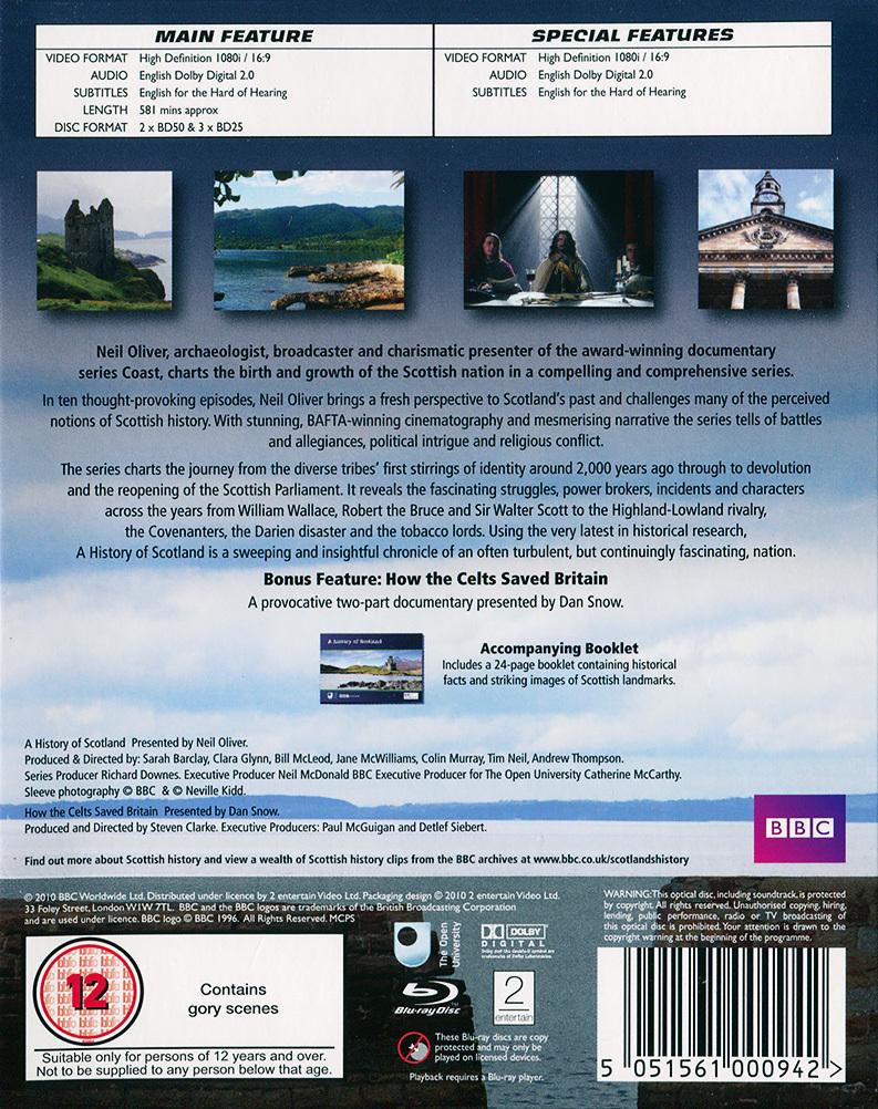 A History of Scotland Blu-ray (United Kingdom)