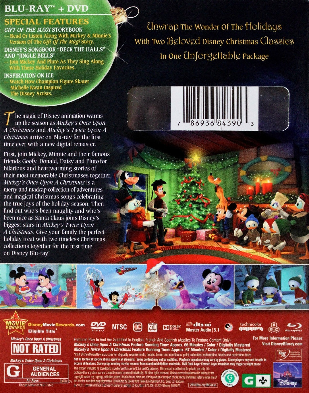 mickeys once upon a christmas twice upon a christmas blu ray 2 movie collection special edition - Mickeys Once Upon A Christmas Vhs