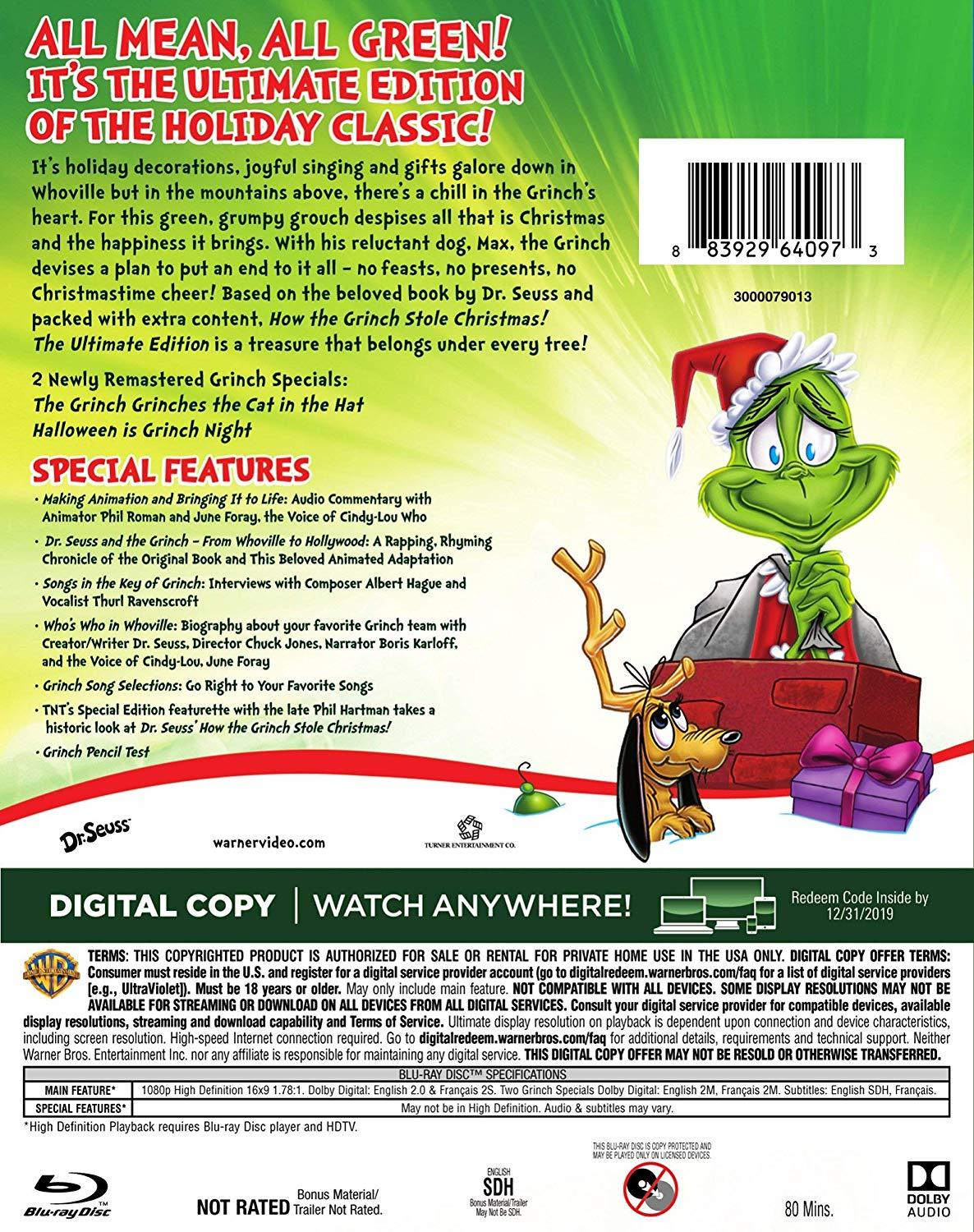 How The Grinch Stole Christmas 1966 Dvd.How The Grinch Stole Christmas 1966 Ultimate Edition Blu