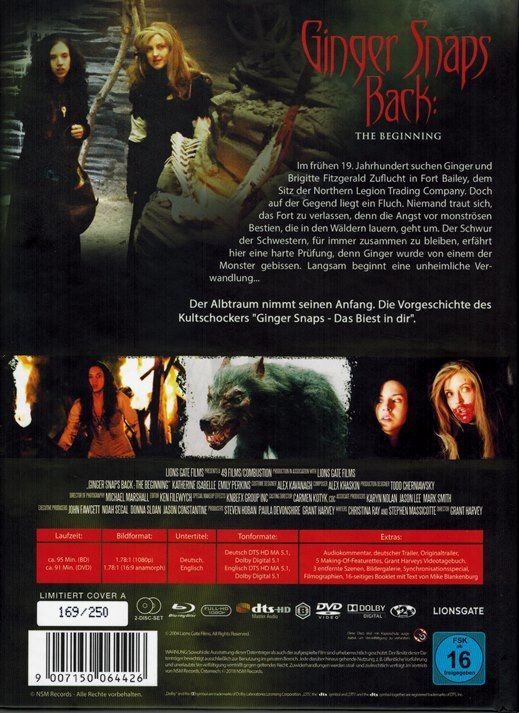 Ginger Snaps Back: The Beginning Blu-ray (Germany)