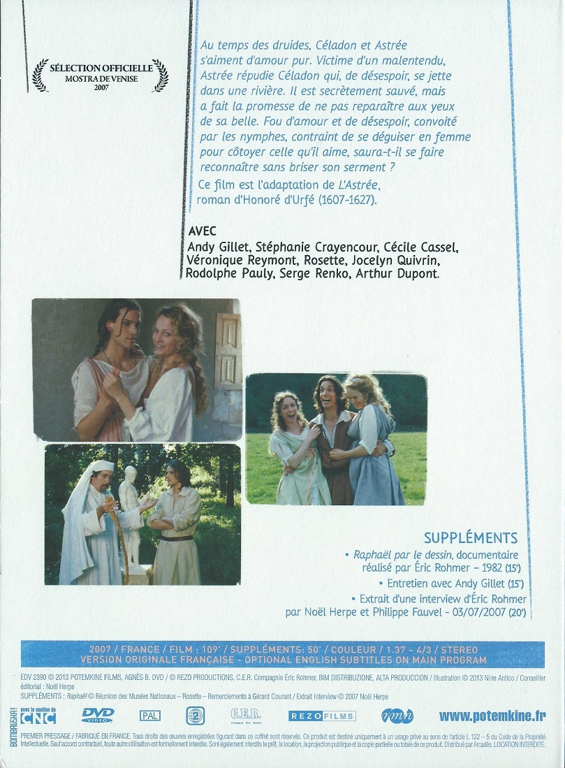 The Romance of Astree and Celadon DVD (France)
