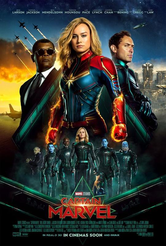 Captain Marvel (2019) 720p HDCAMRip x264 Dual Audio Hindi or English 900MB